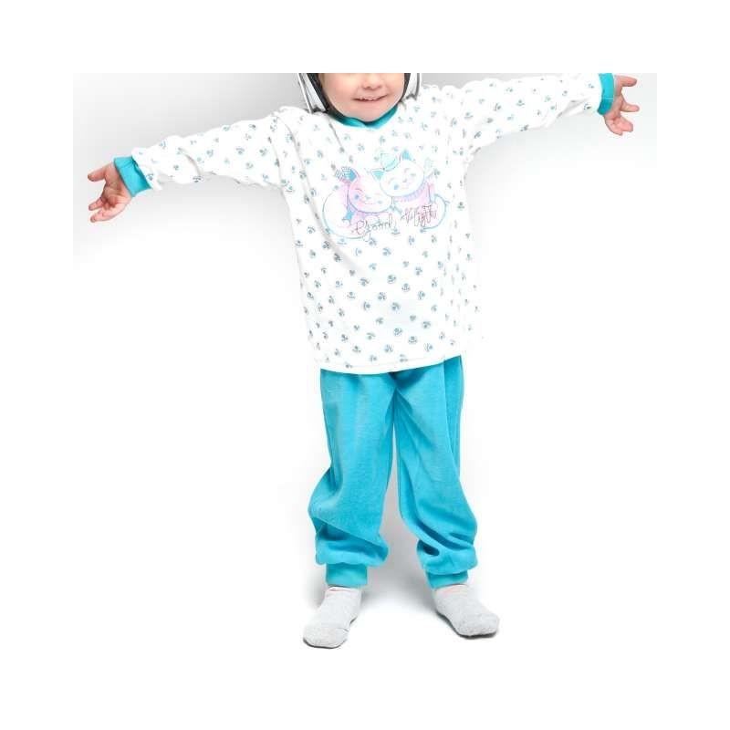 Pijama infantil terciopelo gatitos