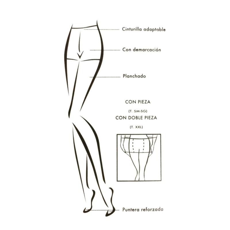 Panty supertalla 15 den 4444 Marie Claire