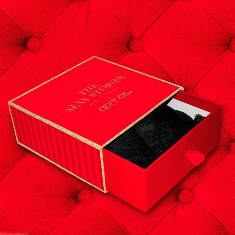 Conjunto de lenceria presentado en caja regalo