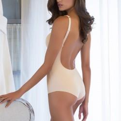 Body espalda al aire con tejido ultrafino Evelyn BA1