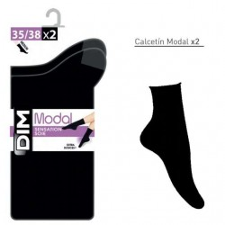 Calcetín modal sin puño en pack 2 unidades Dim