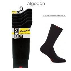 Calcetín algodón básico EcoDim pack 5