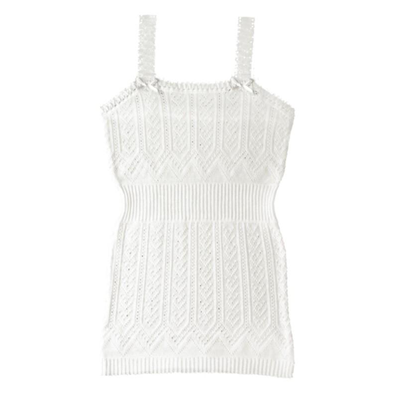 Camiseta de tirantes de perle de algodón