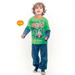 Pijama infantil de algodón Racing