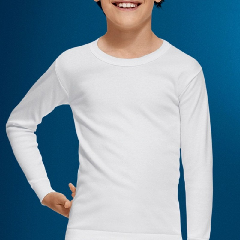 Camiseta interior niño manga larga termal 100% algodón Abanderado