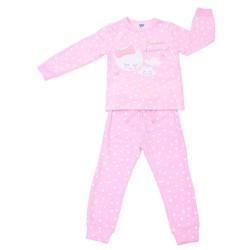 Pijama infantil de algodón Corazones