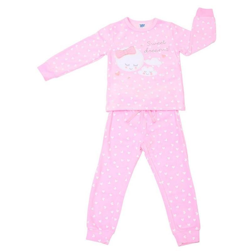 Pijama infantil de algodón Corazones Tobogán