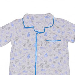 Pijama infantil camisero de algodón