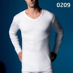 Camiseta manga larga Abanderado termal cuello pico
