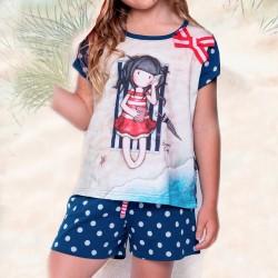 Pijama infantil de algodón Santoro