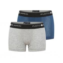 Bóxer niño gris/azul pack x2 Punto Blanco
