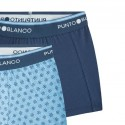 Bóxer niño estampado azul pack x2 Punto Blanco