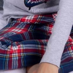 Pijama niño pantalón cuadros Today is Friday