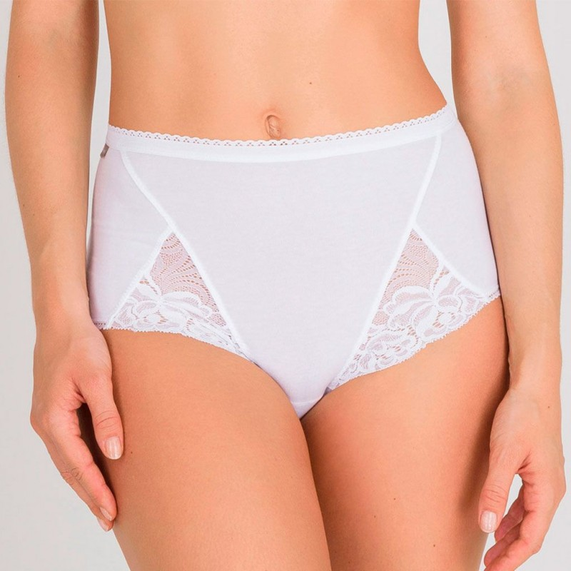 Pack 2 bragas maxi Cotton & Lace Playtex