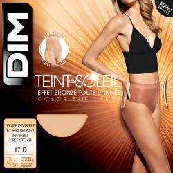 Panty transparente Dim Teint Soleil 17 den efecto vientre plano