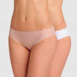 Pack x2 Bragas Body Touch Dim algodón corte laser invisibles