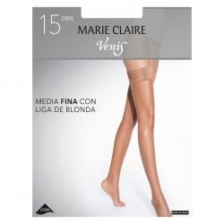 Media con liga de blonda siliconada Marie Claire