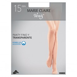 Panty fino 15 den Marie Claire rombo de algodón