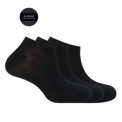 Pack 3 calcetines cortos algodón Basix Punto Blanco