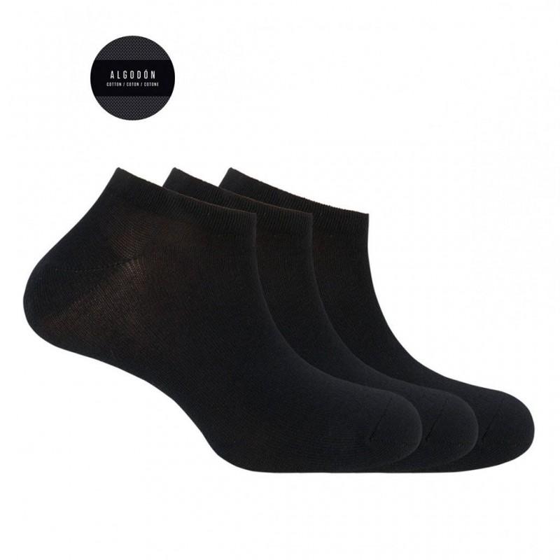Pack 3 calcetines cortos Punto Blanco