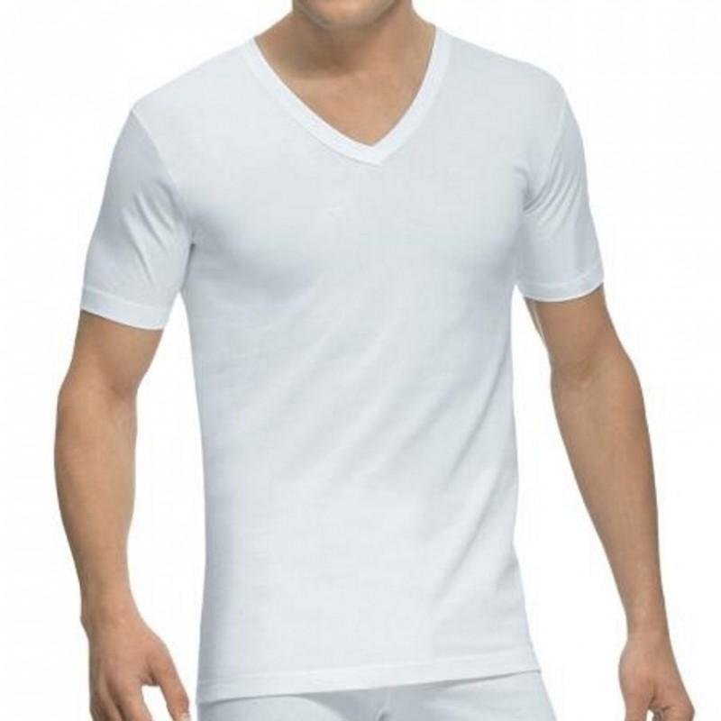 Camiseta manga corta y cuello pico Abanderado