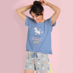 Pijama mujer manga corta...