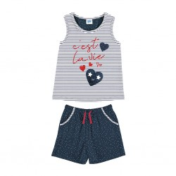 Pijama niña sin mangas Tobogan