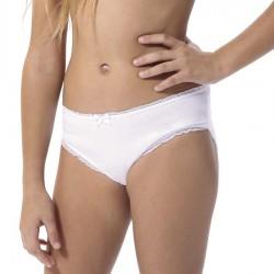 Braga bikini niña de algodón liso 3326 Lara