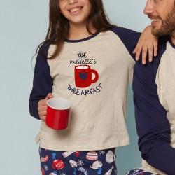 Pijama niña manga larga...