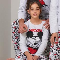 Pijama largo niña algodón...