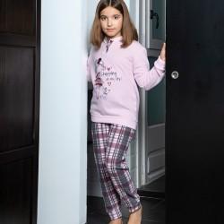 Pijama largo niña cuello...