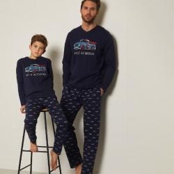 Pijama largo hombre...