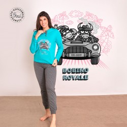 Pijama mujer manga larga...