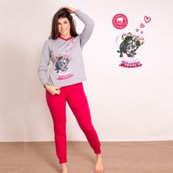 Pijama mujer algodón fucsia...