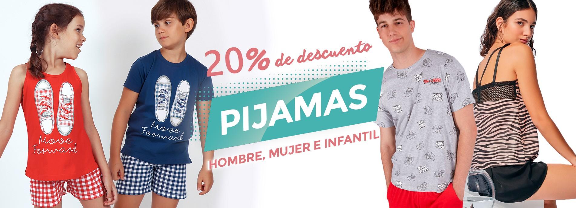 Rebajas en pijamas cortos de hombre, mujer e infantil