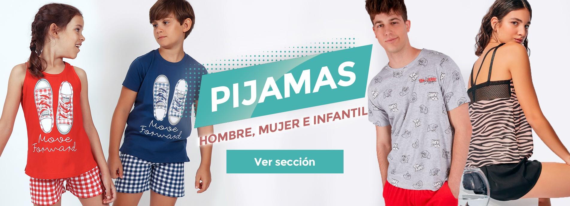 Pijamas cortos de hombre, mujer e infantil